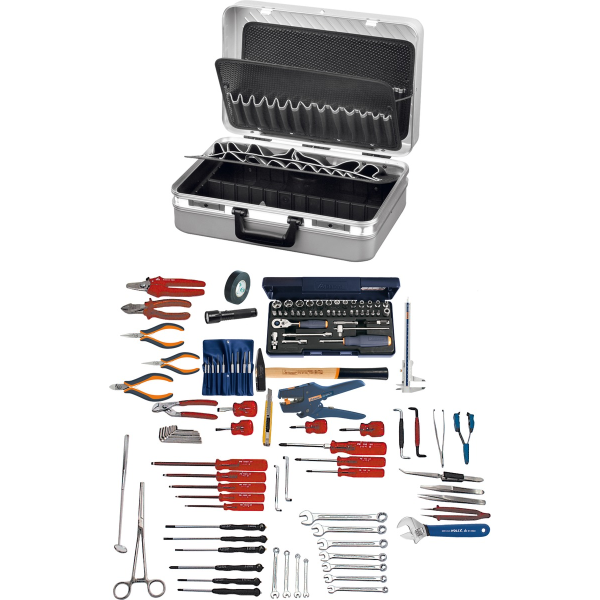 Electro tool kit 119-pcs with Alu tool c